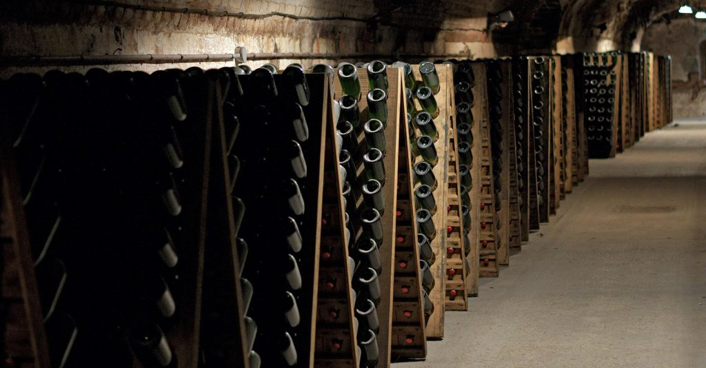 wine and cellars in champagne
