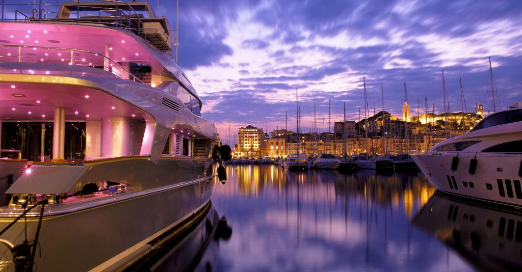 Yacht in French Riviera