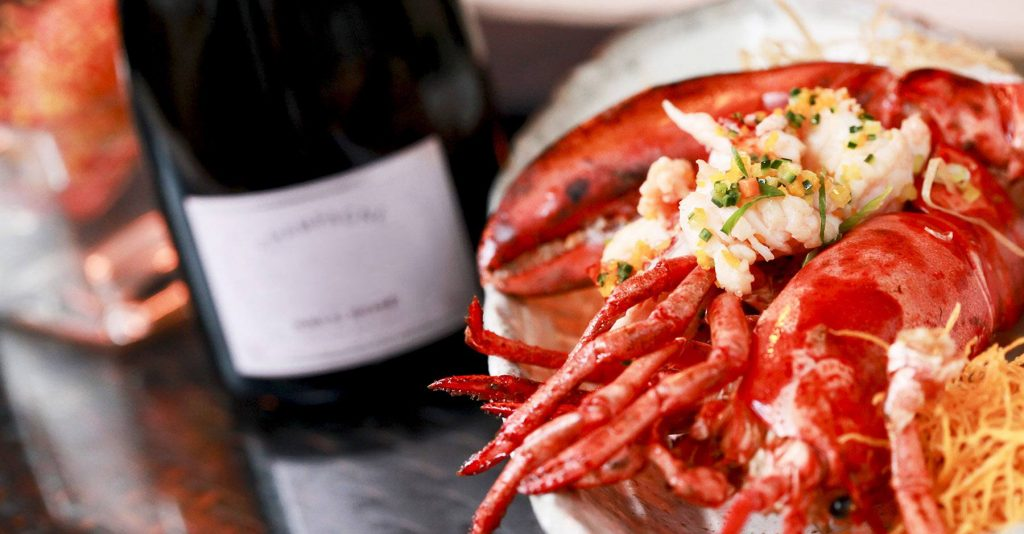 wine and seafood