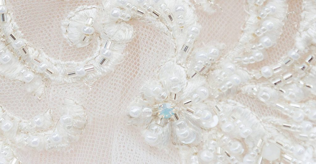 details of a wedding dress
